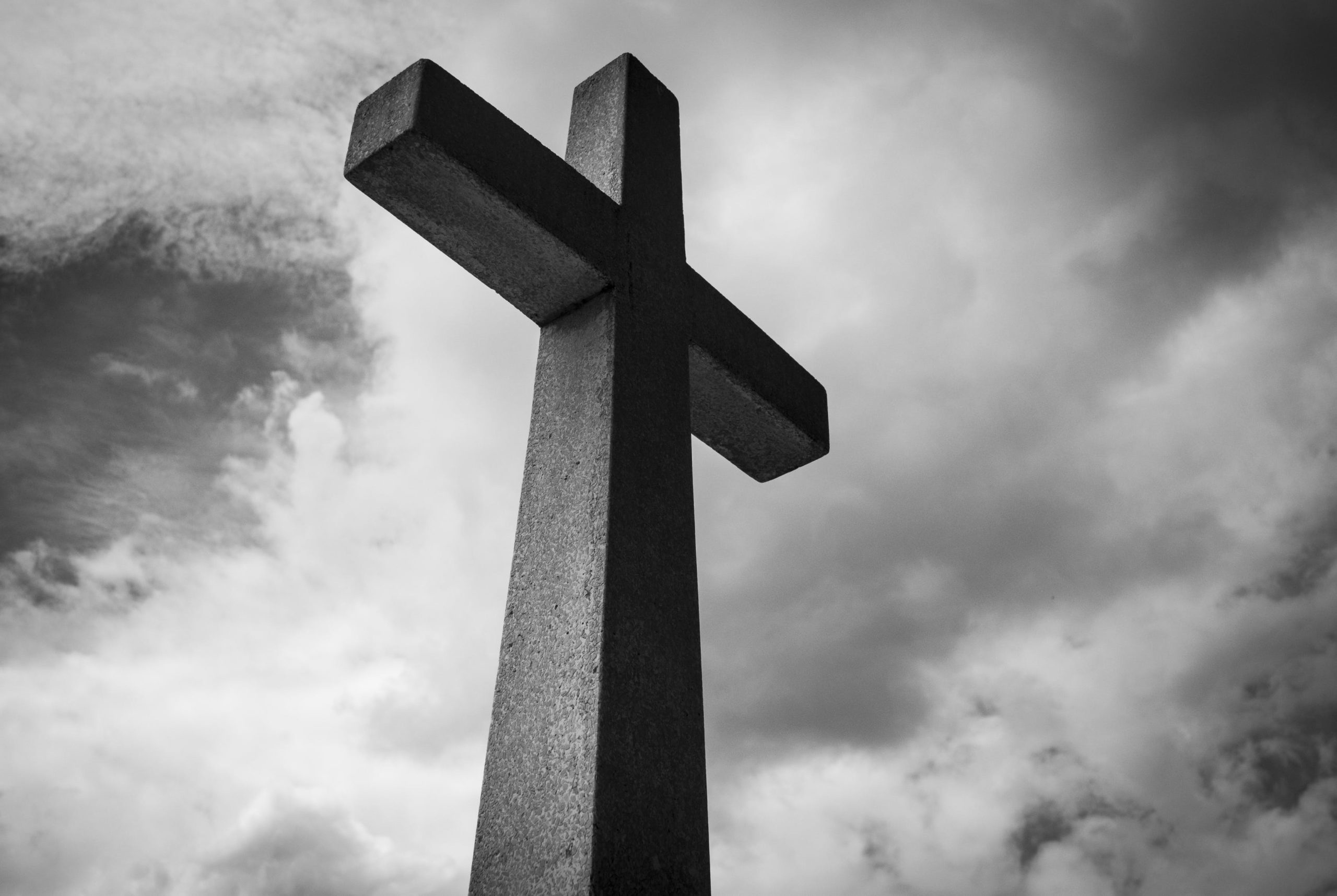 Cross with gray background